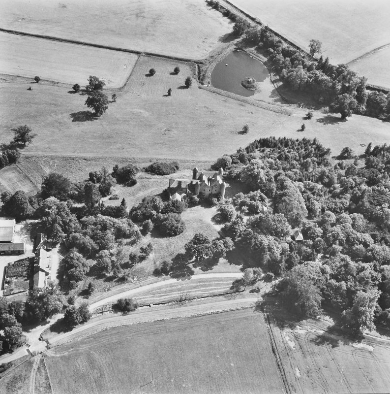 Methven Castle. General aerial view.