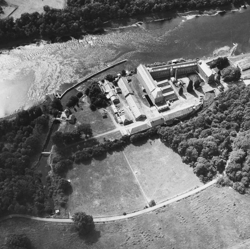 Aerial view of mill complex