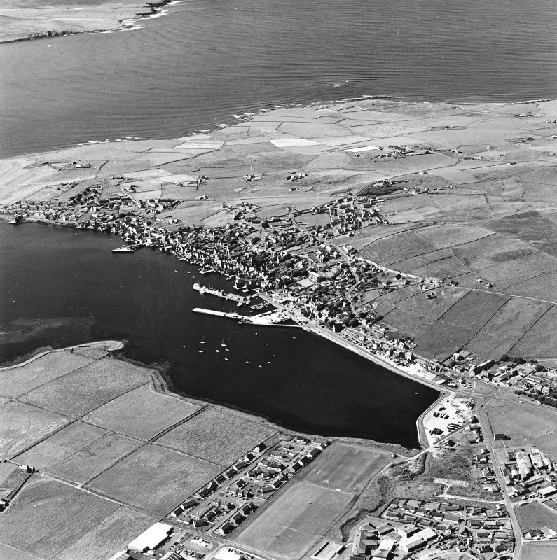 Oblique aerial view of Stromness, taken from the NE.