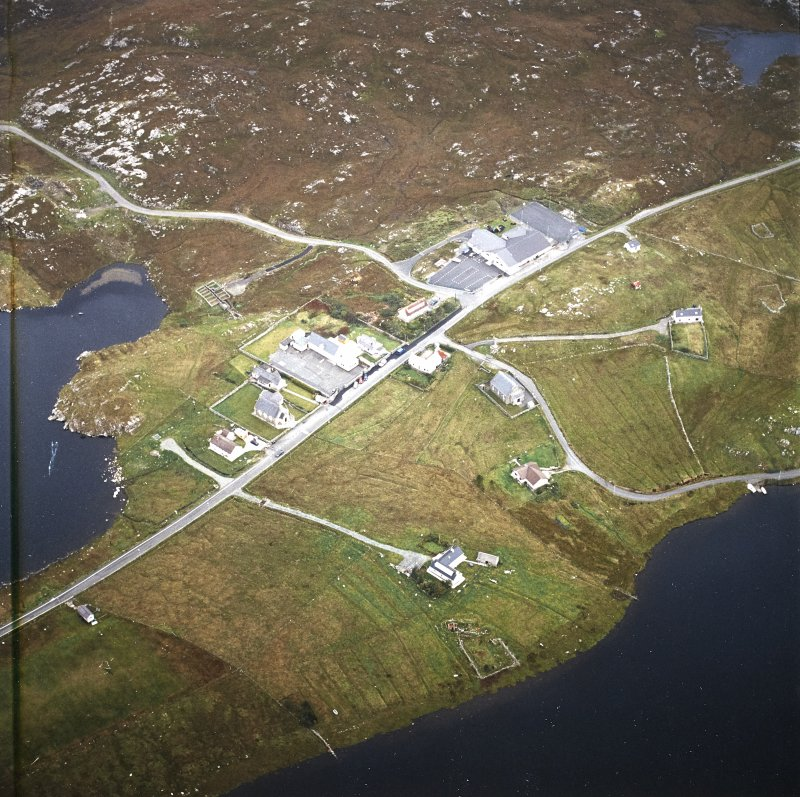 Oblique aerial view centred on the township, taken from the ESE.