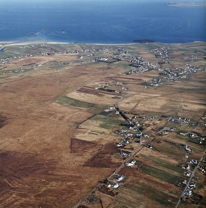 General oblique aerial view centred on the crofting township, taken from the W.