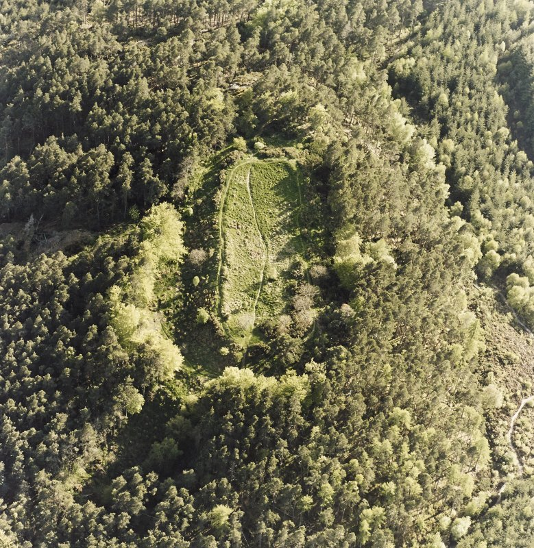 Oblique aerial view of Craig Phadrig.