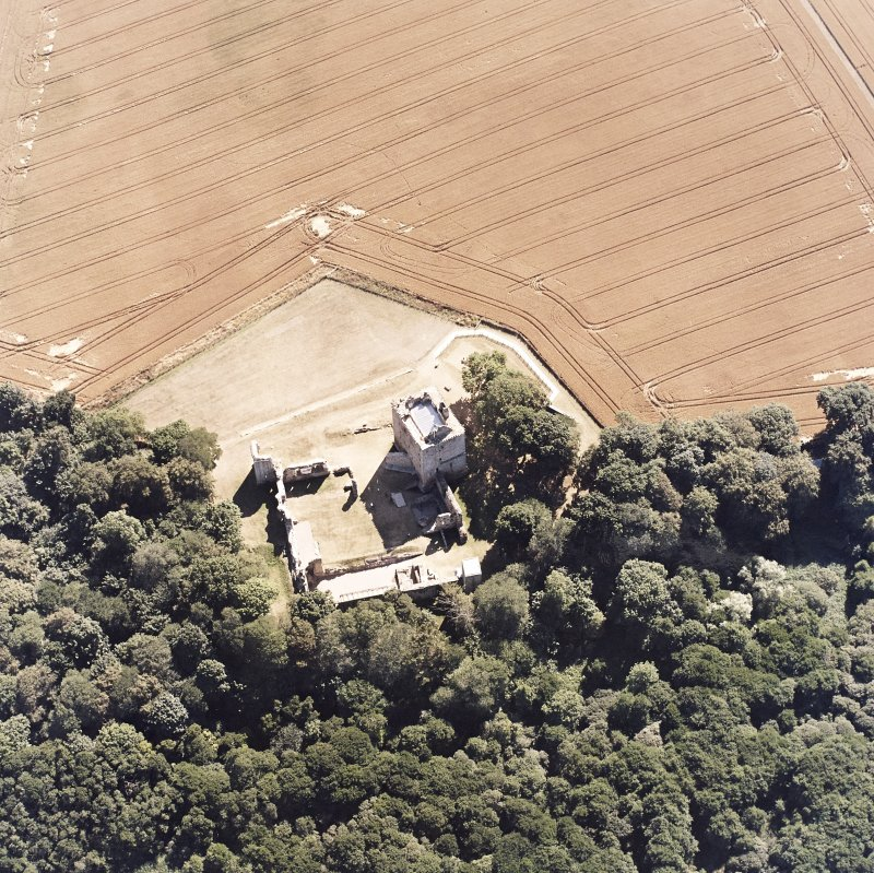 Oblique aerial view taken from the NE, centred on the Bishop's Palace.