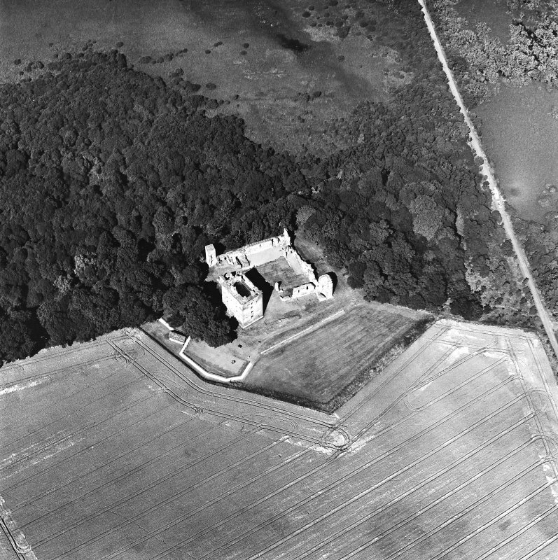 Oblique aerial view taken from the SW, centred on the Bishop's Palace.