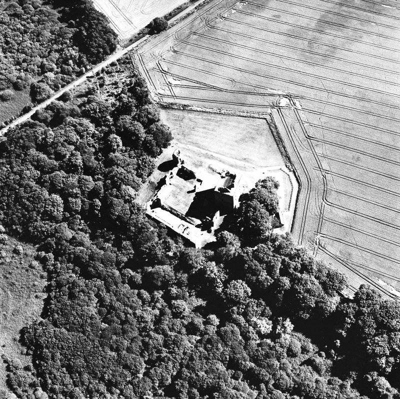 Oblique aerial view taken from the NW, centred on the Bishop's Palace.