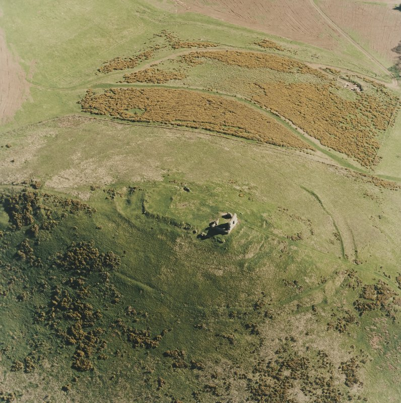 Oblique aerial view centred on the remains of the fort taken from the N.