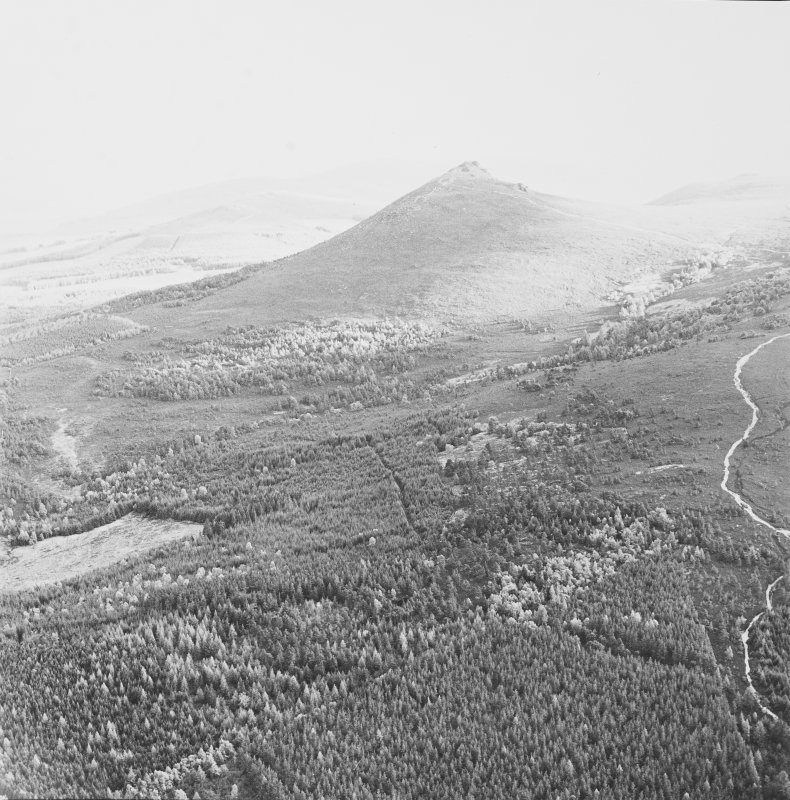 Mither Tap of Bennachie fort, oblique aerial view, taken from a kilometre to the NE.