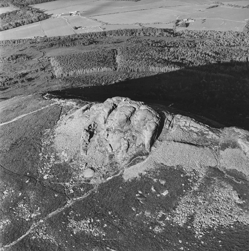 Mither Tap of Bennachie fort, oblique aerial view, taken from the WSW.