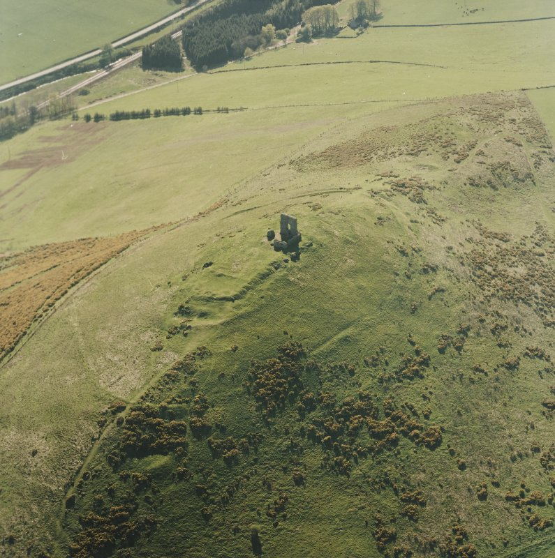 Oblique aerial view centred on the remains of the fort taken from the E.