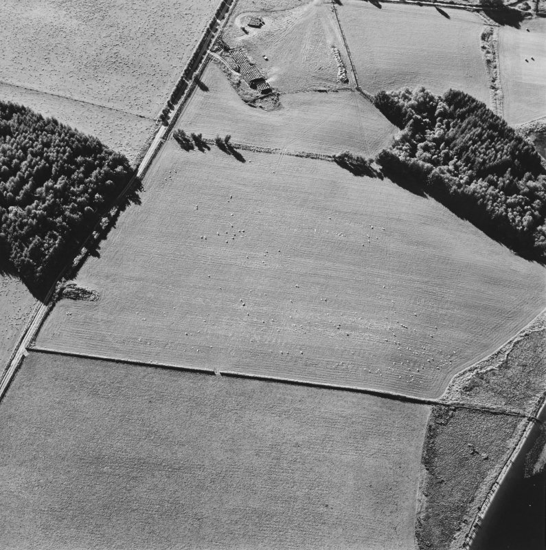 Oblique aerial view centred on the platform of the Roman fort, taken from the ESE.