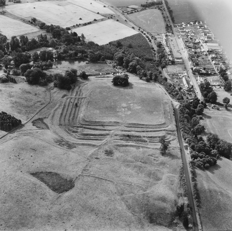 Oblique aerial photograph from north.