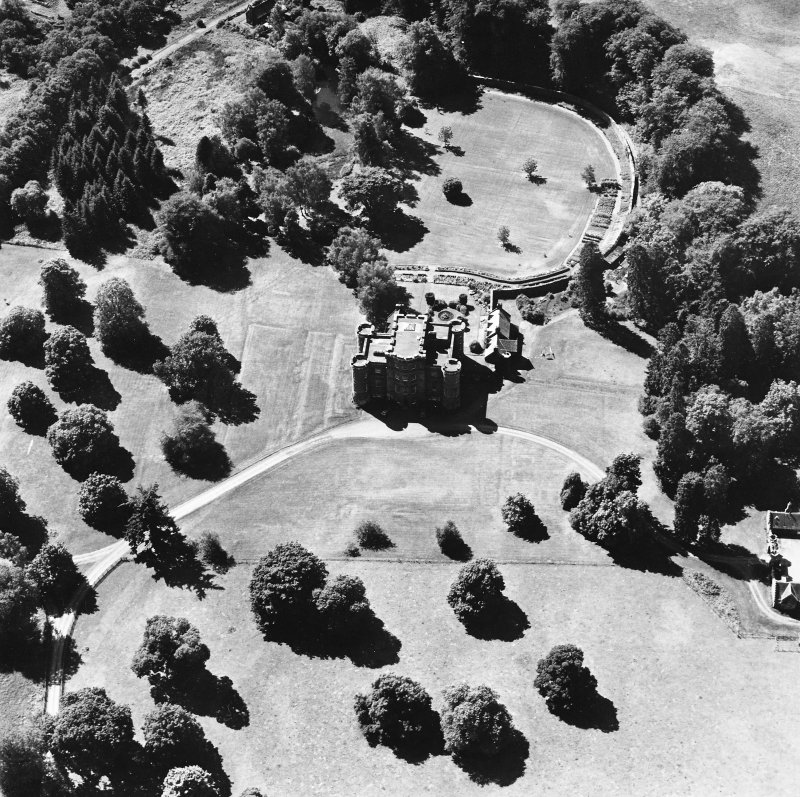 Monzie Castle, oblique aerial view, taken from the NE.