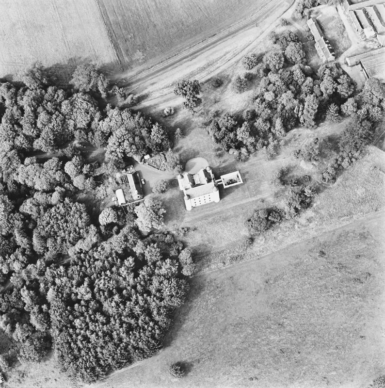 Methven Castle, oblique aerial view, taken from the SSW.