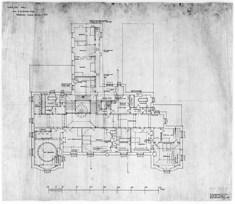 Photographic copy of 1st floor plan May 1905