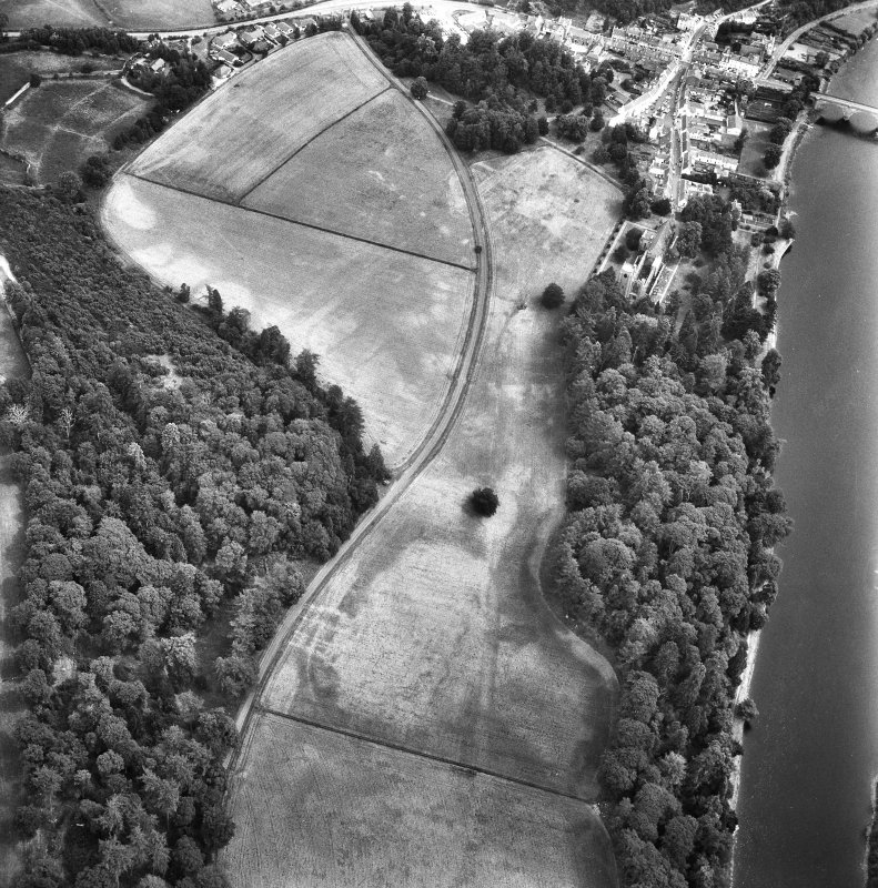 Dunkeld. Oblique aerial view from West.