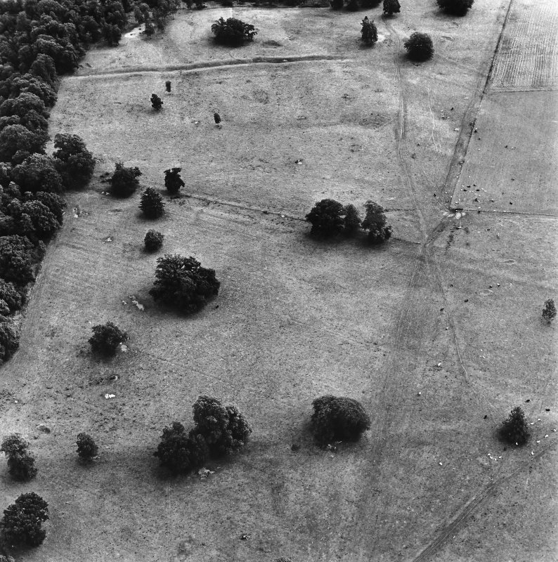 Inchtuthil Roman Fortress, oblique aerial view, taken from the WNW.