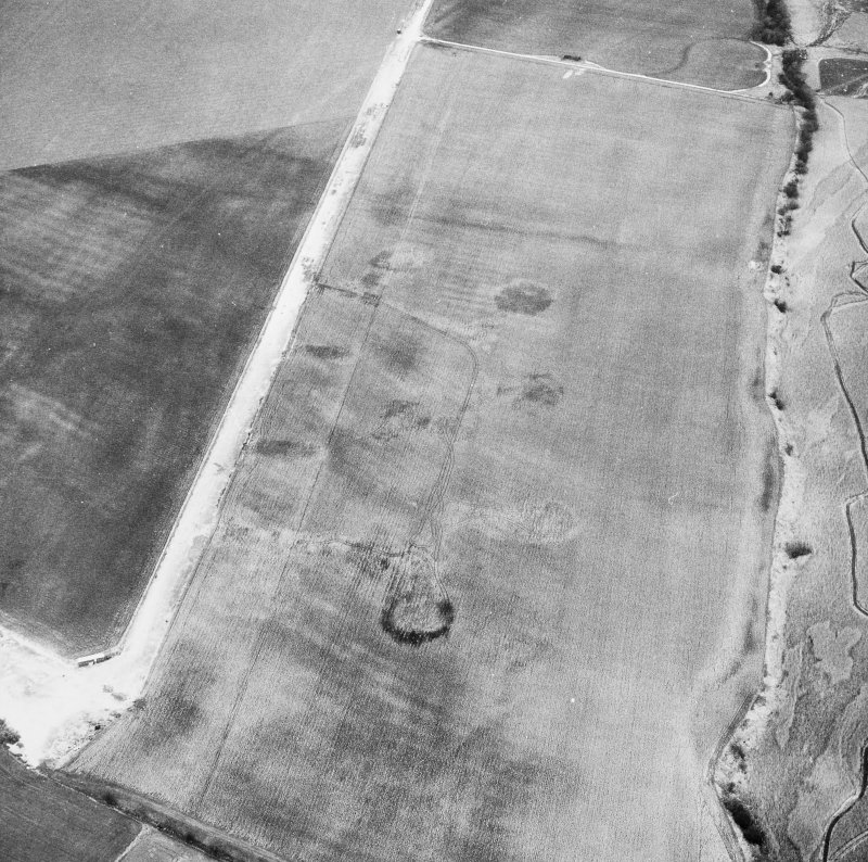 Errol Airfield, Military Dispersal Bays. General oblique aerial view.
