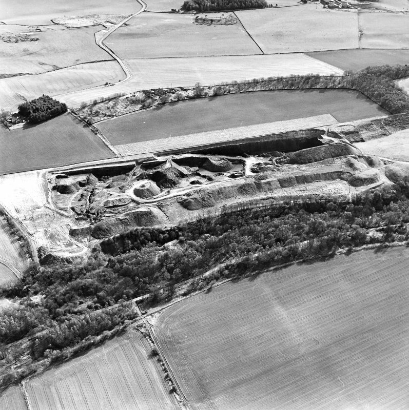 General aerial view of Cults Hill Limestone Quarry, taken from the N.