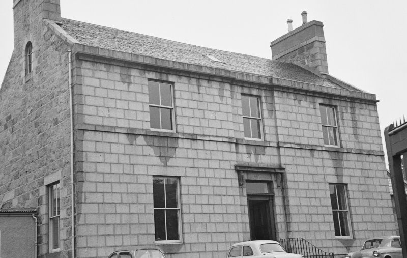 General view of Migvie House, North Silver Street, Aberdeen, from south east.