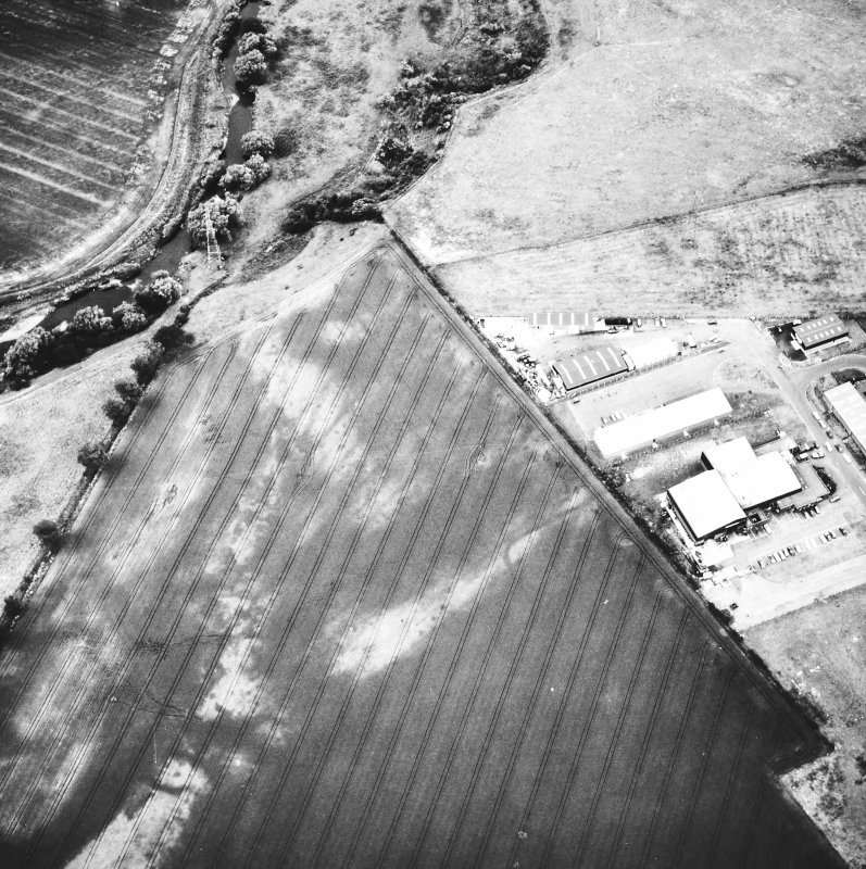 Lochlands and Bogton: Roman temporary camps, pits and cropmarks. Air photograph