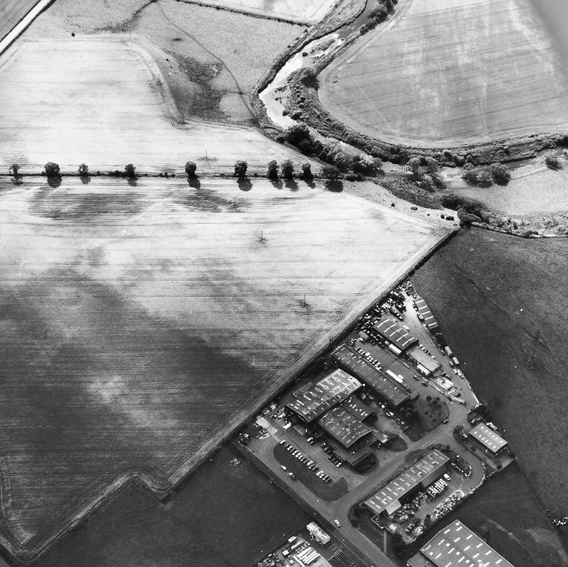 Lochlands: Roman temporary camps. Air photograph