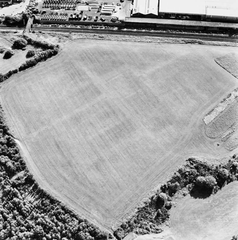 Camelon Roman Fort, oblique aerial view, taken from the NNE.
