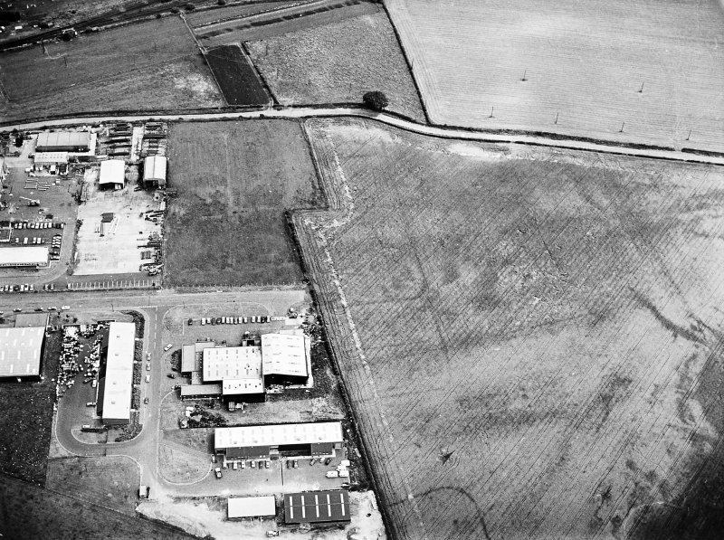 Lochlands and Bogton: Roman temporary camps. Air photograph