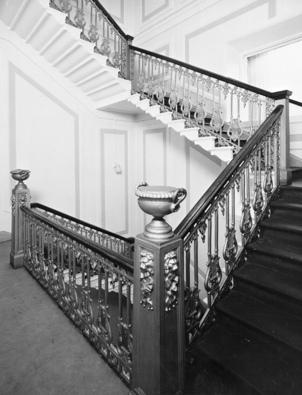 Interior. View of S staircase from NW.