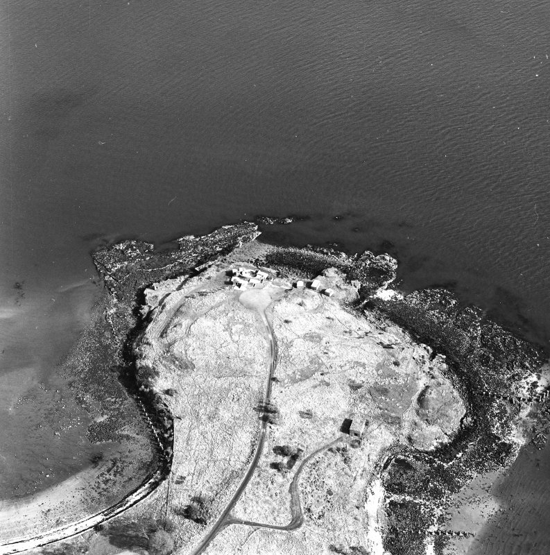 Oblique aerial view of Charles Hill centred on a coast battery, taken from the W.