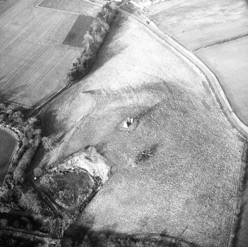 Oblique aerial photograph centred on tower and fort from S.