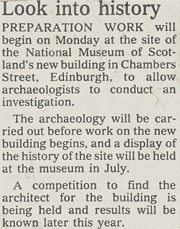 Newscutting from 'Dundee Courier' 5 April 1991.