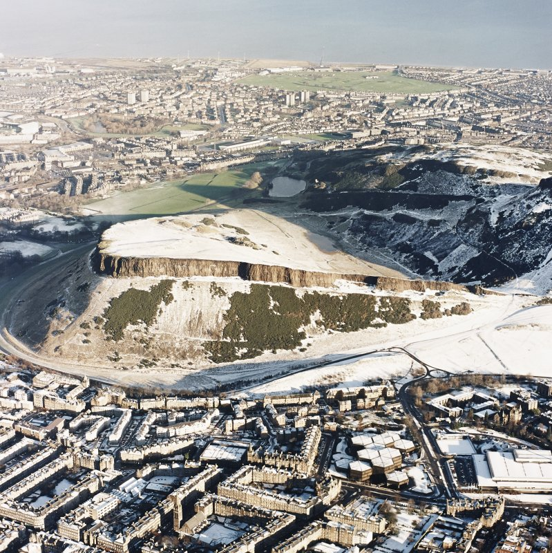 Oblique aerial photograph of Holyrood Park, Edinburgh, taken from the SW.