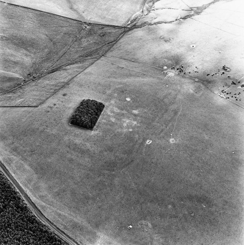 Oakwood Roman Fort, oblique aerial view, taken from the NW.