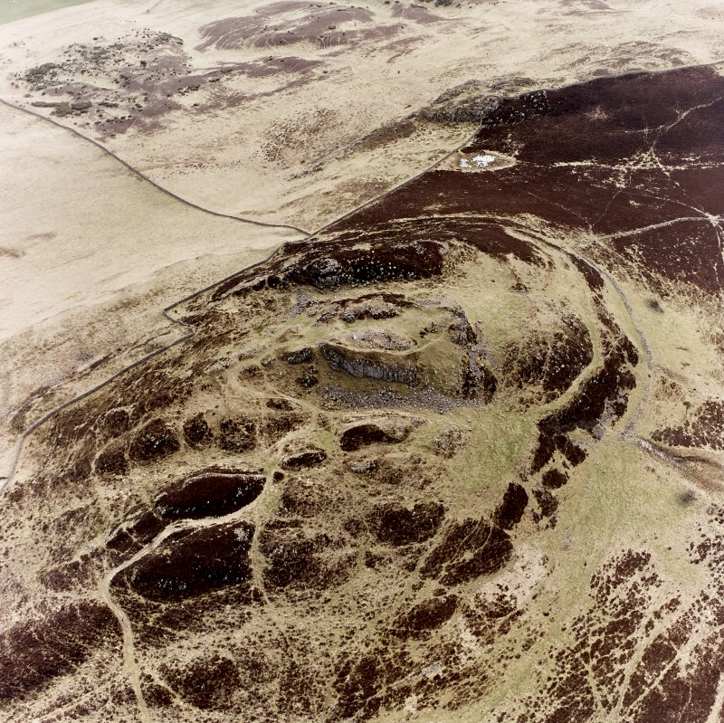 Rubers Law, oblique aerial view, taken from the NW, showing fort and roman signal station.