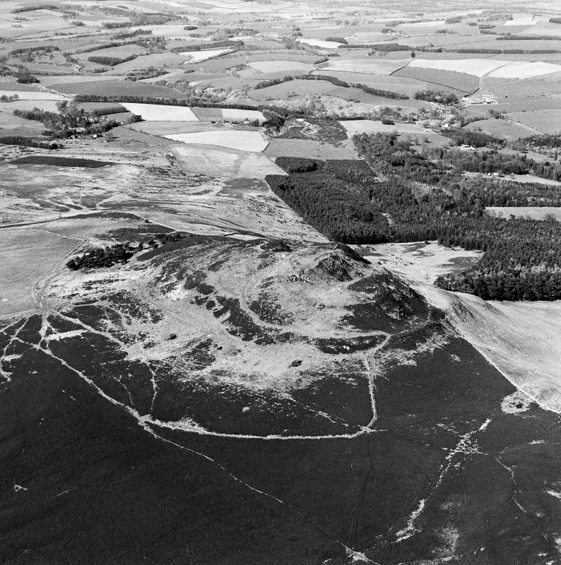 Aerial view of Rubers Law fort and roman signal station, taken from the SW.