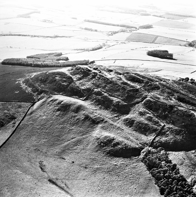 Aerial view of Rubers Law fort and roman signal station, taken from the E.