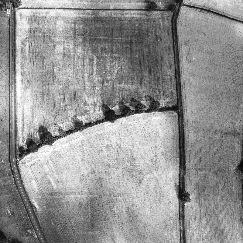 Newstead, Roman fort: RCAHMS air photograph showing annexe (NT 571 343) and western annexe (NT 567 343)