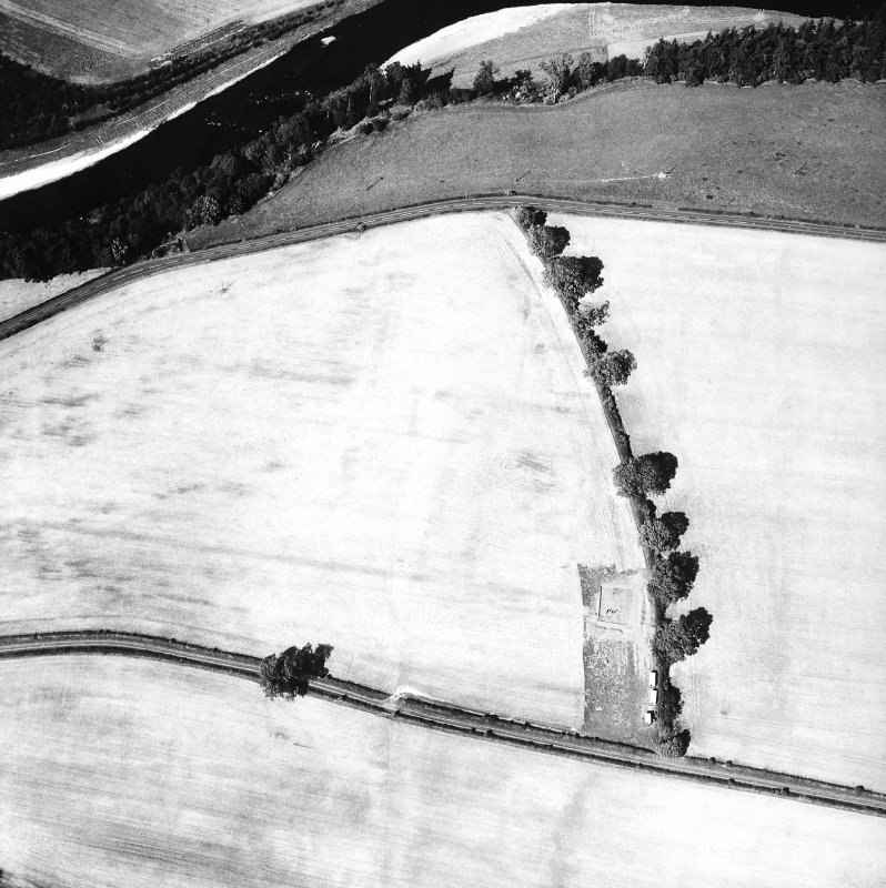 Oblique aerial view Excavation
