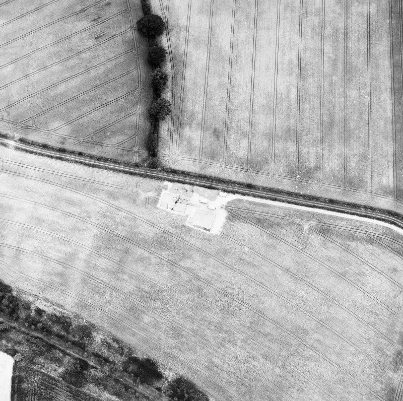Oblique aerial view Southern annexe under excavation