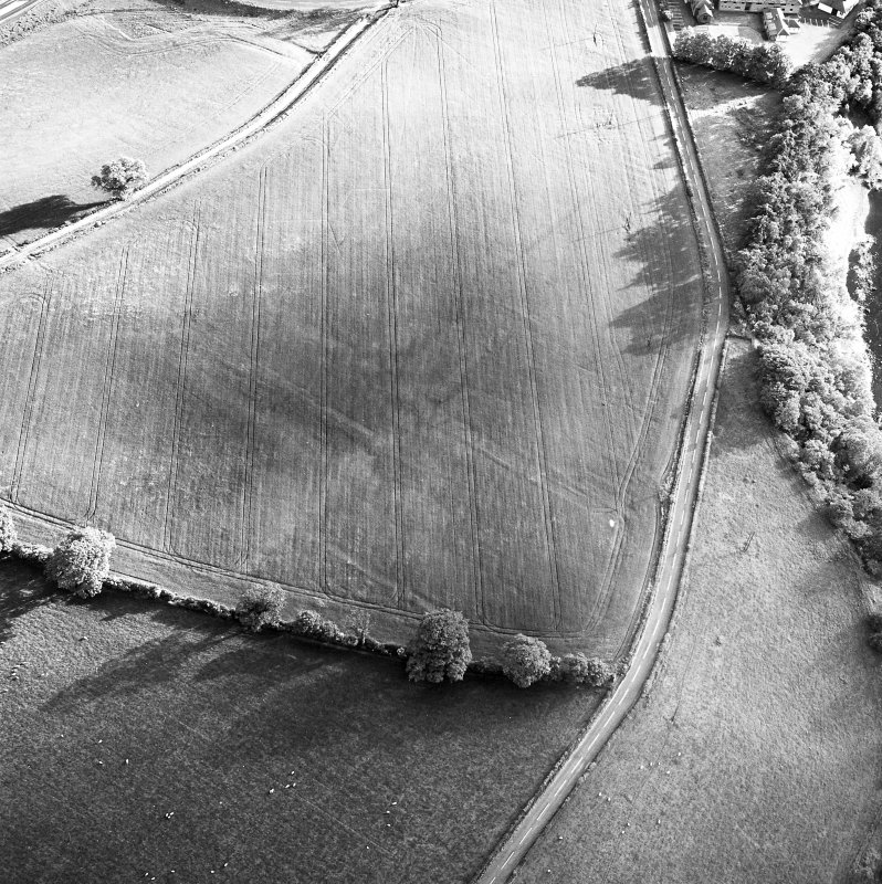 Newstead Roman fort and western annexe, oblique aerial view, taken from the ENE.