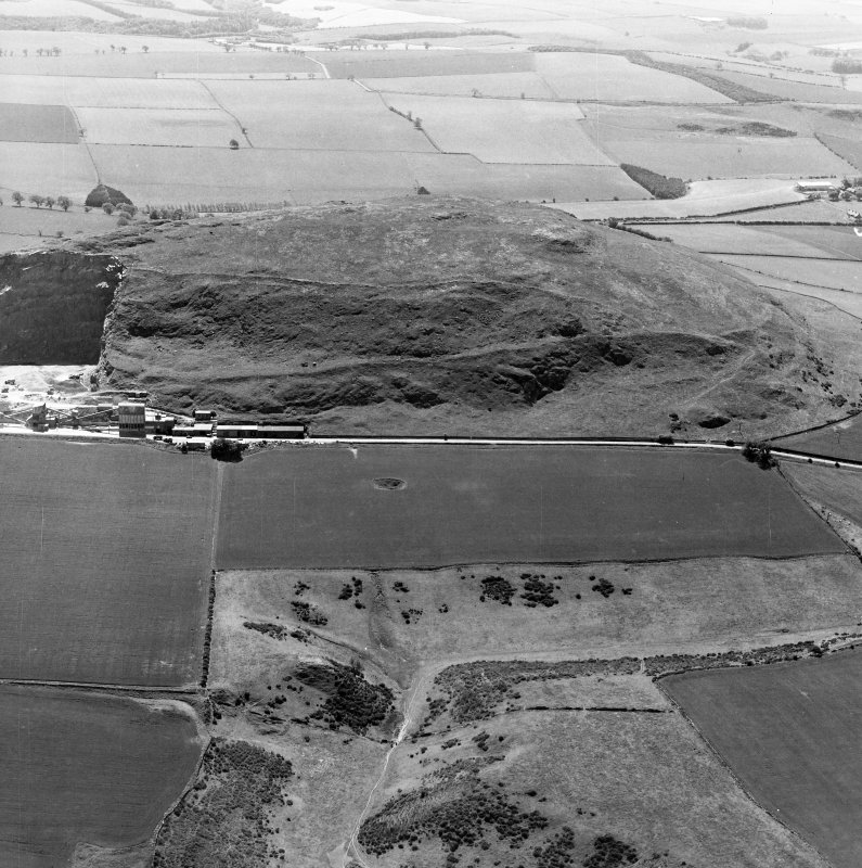 Oblique aerial view centred on the remains of the fort.