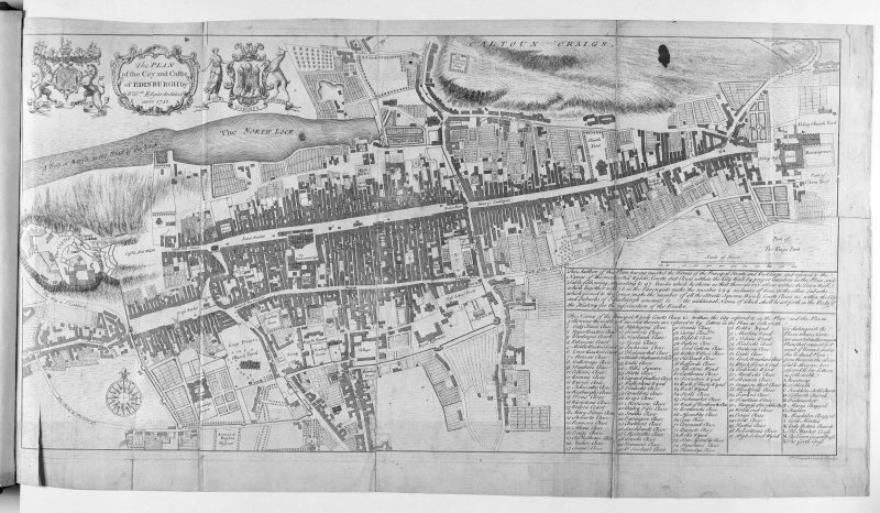 The Plan of the City and Castle of Edinburgh 1742