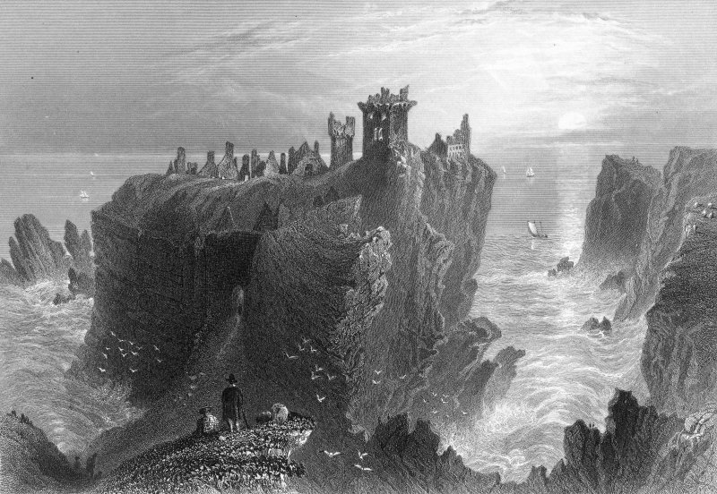 Photographic copy of engraving of Dunnottar Castle