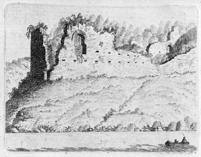 Photographic copy of engraving showing view from SW.