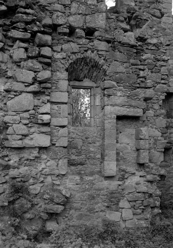 Detail of window, Corse Castle.