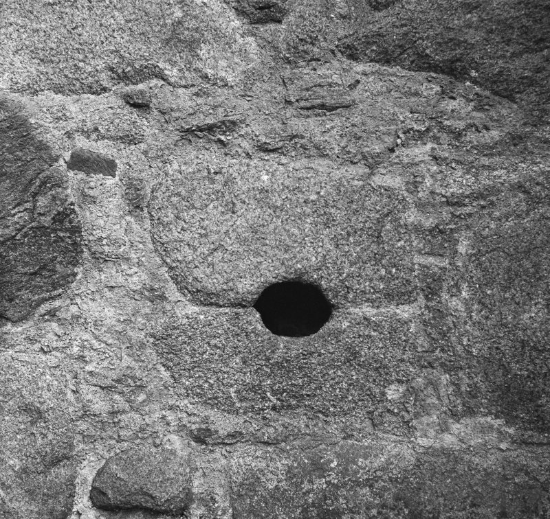 Detail of gunloop, Corse Castle.