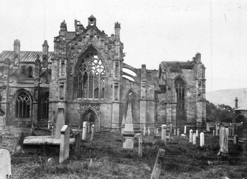 Copy of historic photograph showing view of transept from S.