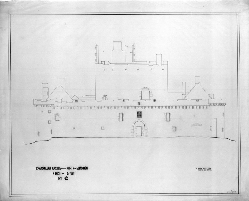 Photographic copy of North elevation