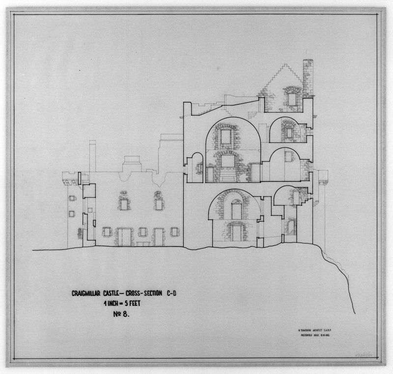 Photographic copy of cross-section, C-D