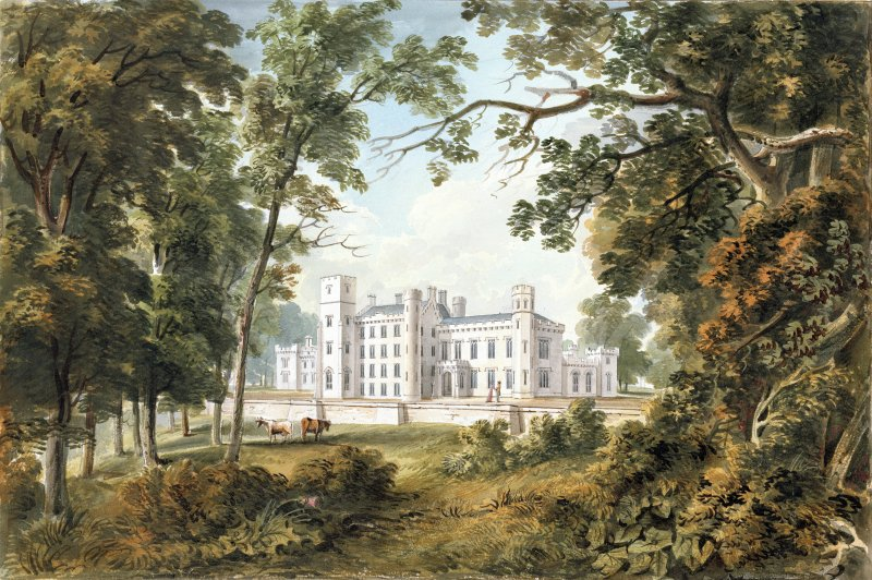 Methven Castle. Photographic copy of perspective view.